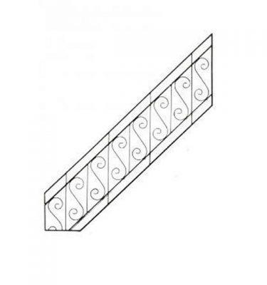 Hand Rail Bannister Railing                                 520X1800
