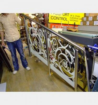 Chrome Stair Handrail