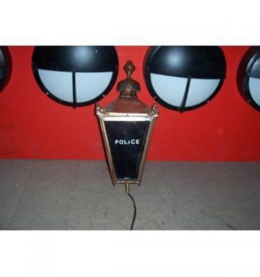 Exterior Police Lamp Brass