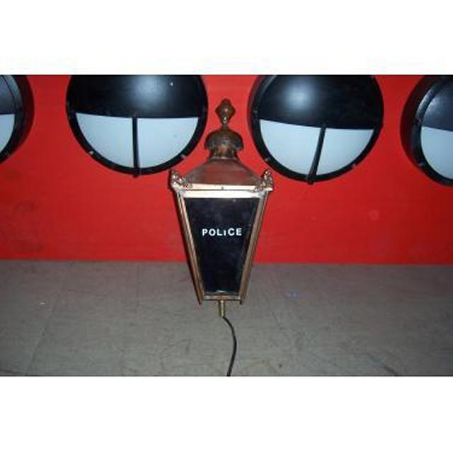 Exterior Police Lamp Brass
