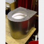 Mock Stainless Steel Prison Toilet