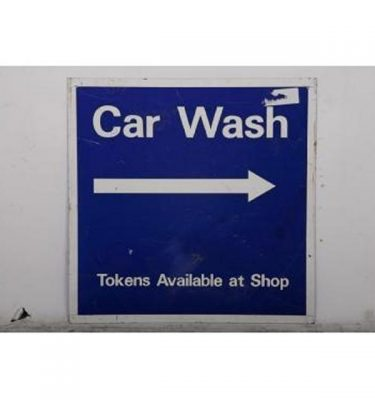 Garage Car Wash Metal Signage 595X595