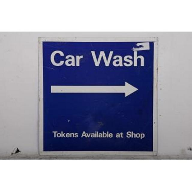 Garage Car Wash Metal Signage 595X595