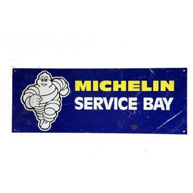 Garage Michelin Service Bay    Metal Signage 240X640