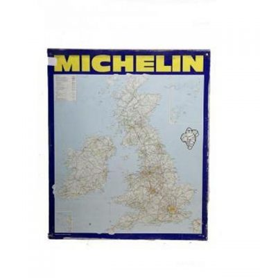 Garage Michelin Uk Map Metal Signage 870X725