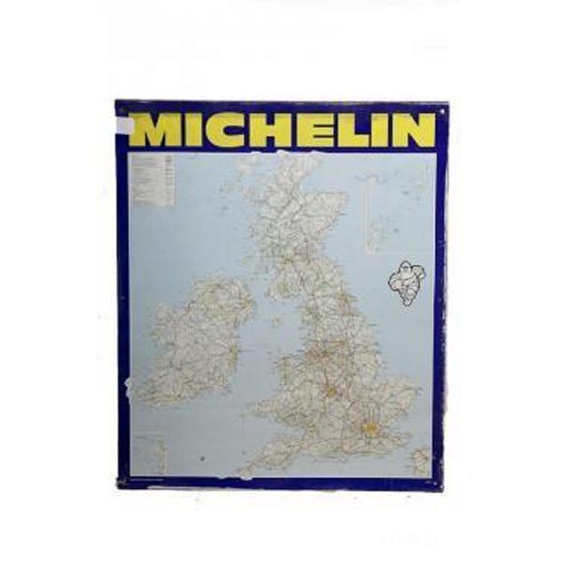 Garage Michelin Uk Map Metal Signage 870X725