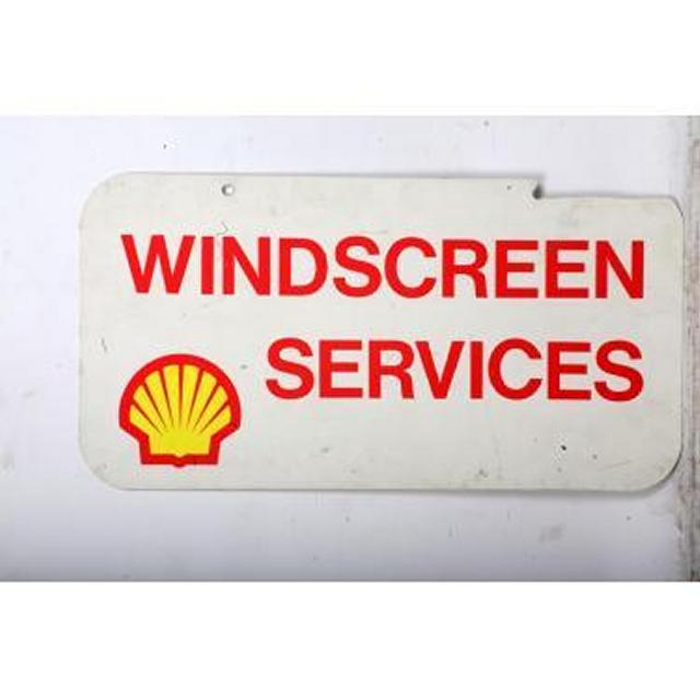 Garage Shell Windscreen Services Metal Signage 380X740