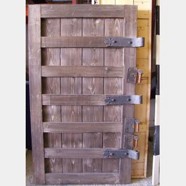 Aged Timber Door With Heavy Steel Hinges 1750X1000Mm