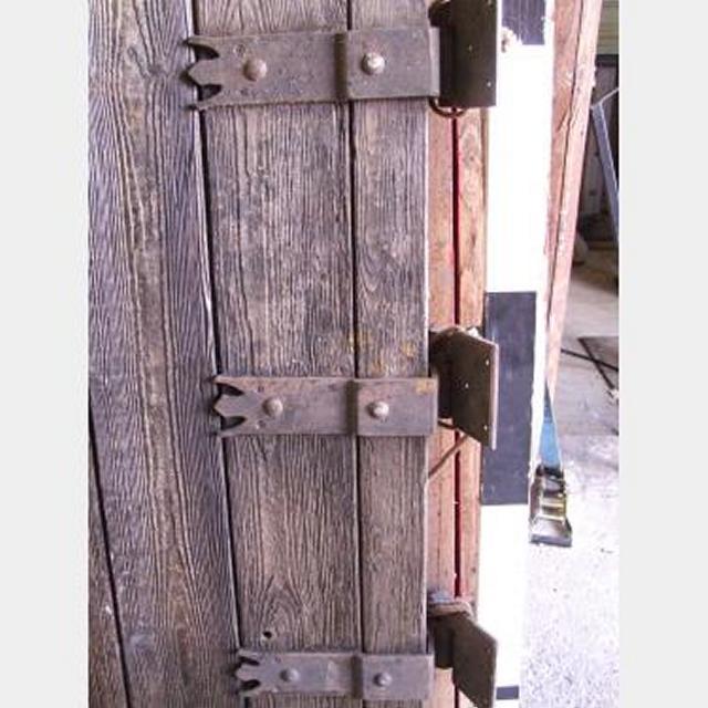 Aged Wooden Door With Hinges 1530X925Mm