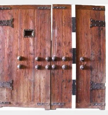 Wooden Timber Doors X2 2100X1070Mm