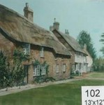 Backdrop 102 Thatched Cottages 13'X12'