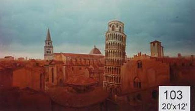 Backdrop 103 Leaning Tower Of Pisa 20'X12'