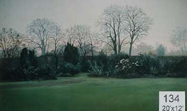 Backdrop 134 Suburban Walled Garden Autumn Spring 20'X12'