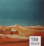 Backdrop 159 Desert Sand Dunes Cartoonish 12'X12'