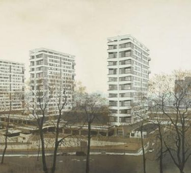 Backdrop 174 City Tower Block Estate 21'X12'