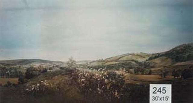 Backdrop 245 Rural Countryside Fields 30'X15'