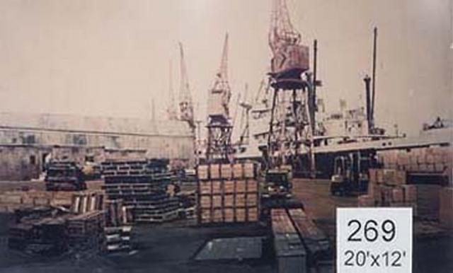 Backdrop 269 Dockyard Cranes 20'X12'