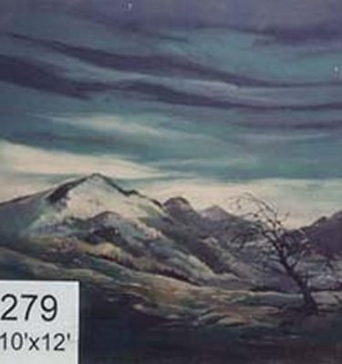 Backdrop 279 Snow Capped Mountain Wales Scotland 10'X12'