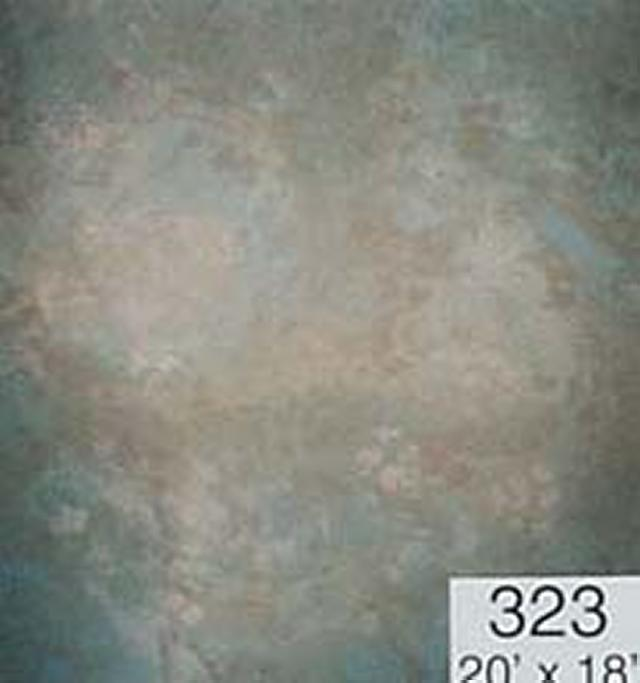 Backdrop 323 Cream Blue Grey Brown 20'X18'