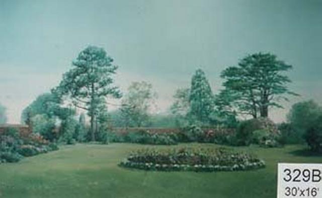 Backdrop 329B Suburban Summer Garden 30'X16'