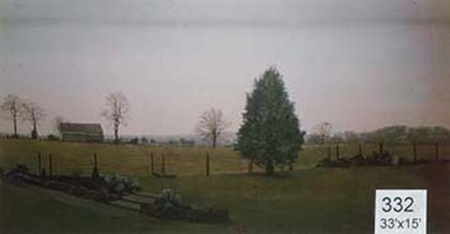 Backdrop 332 Farmland View With Barn Cottage 33'X15'