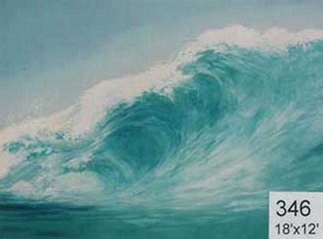 Backdrop 346 Surf Wave 18'X12'