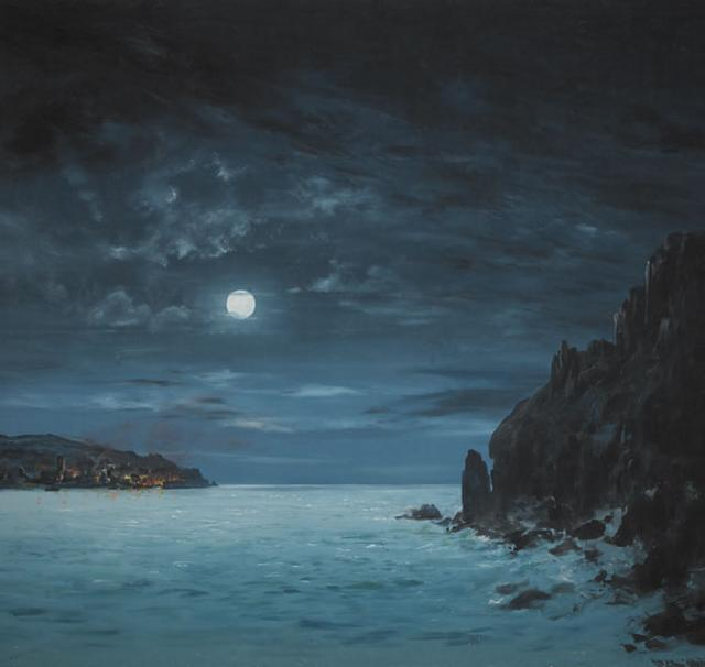 Backdrop 353 Moonlit Beach Cove 15'X12'