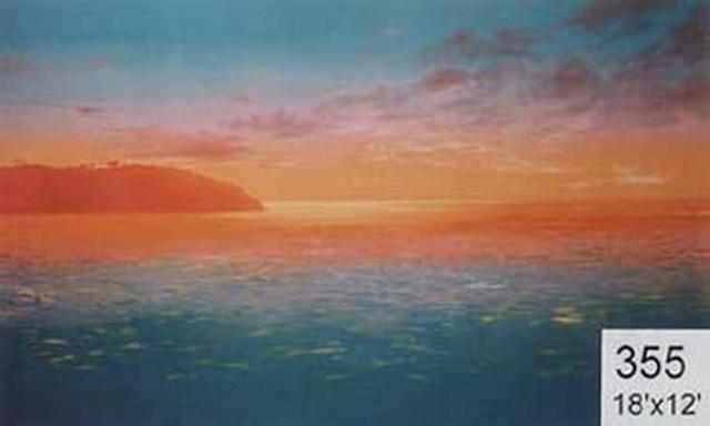 Backdrop 355 Sunset/Sunrise Over Sea 18'X12'