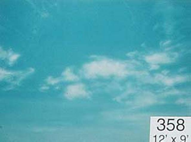 Backdrop 358 Blue Sky With Clouds 12'X9'