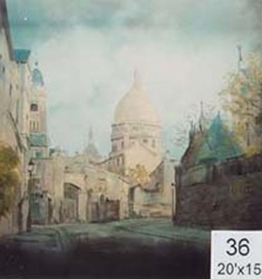Backdrop 36 Sacre Coeur 20'X15'