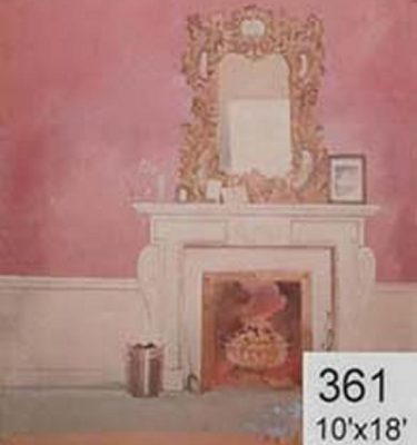 Backdrop 361 Elegant Fireplace And Overmantle Mirror Naive 10'X18'