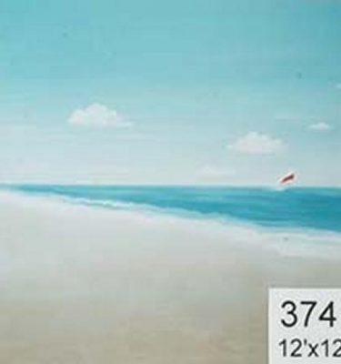 Backdrop 374 Simple Beach Scene With Yacht 12'X12'