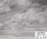 Backdrop 375 Monochrome Cloudy Sky 15'X12'