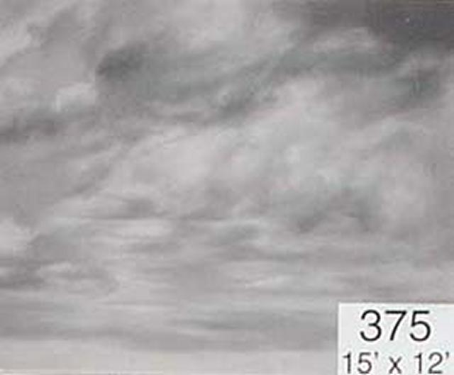 Backdrop 375 Monochrome Cloudy Sky 15'X12'