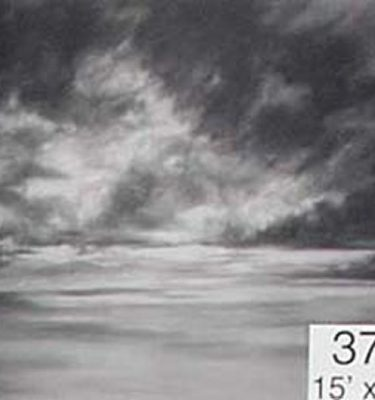 Backdrop 376 Monochrome Cloudy Sky 15'X12'