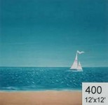 Backdrop 400 Sand, Sea & Sky With Yacht Simple Style 12'X12'