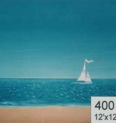 Backdrop 400 Sand, Sea & Sky With Yacht Simple Style 12'X12'