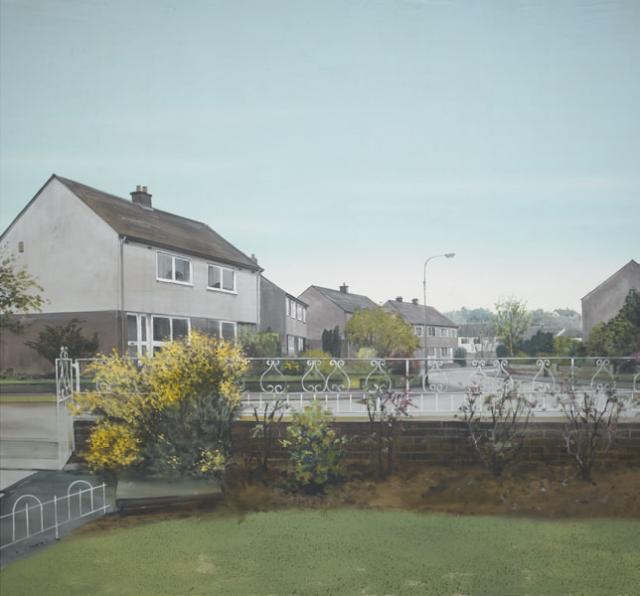 Backdrop 403 Suburban Houses 18'X12'