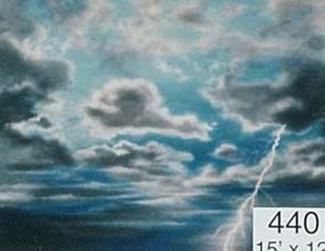 Backdrop 440 Dramatic Stormy Sky With Grey Clouds 15'X12'