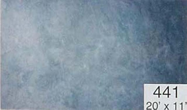 Backdrop 441 Blue Grey White 20'X11'