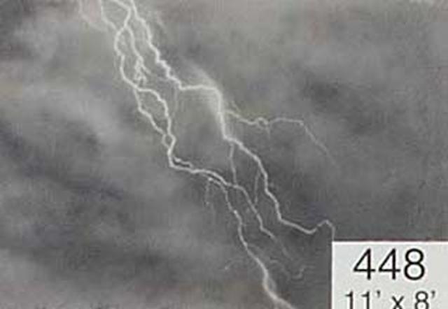 Backdrop 448 Stormy Sky With Lightning 11'X8'