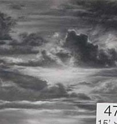 Backdrop 473 Monochrome Dramatic Cloudy Sky 15'X12'