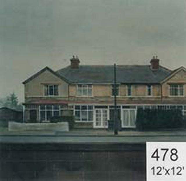 Backdrop 478 Suburban Houses 12'X12'