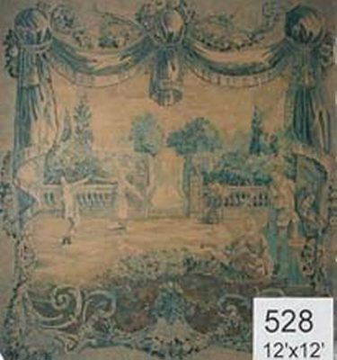 Backdrop 528 Classical Tapestry On Hessian 12'X12'