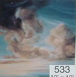Backdrop 533 Dramatic Stormy Cloudy Sky 12'X12'