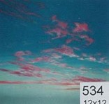 Backdrop 534 Bright Blue Sky With Pink Clouds 12'X12'