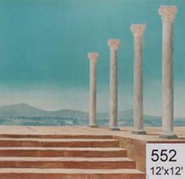 Backdrop 552 Roman Greek Columns 12'X12'
