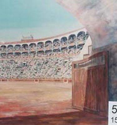 Backdrop 555 Bullring Coliseum Arena 15'X15'