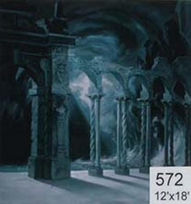 Backdrop 572 Gothic Arches Ruins In Moonlight 12'X18'