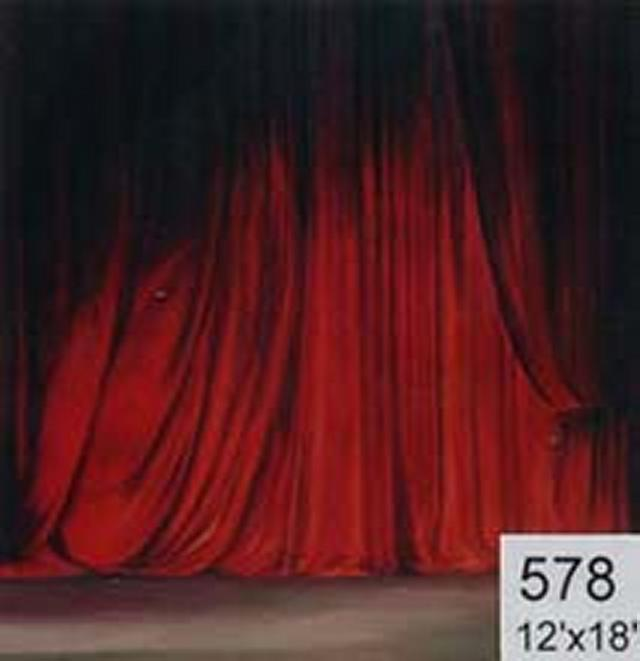 Backdrop 578 Red Theatre Curtain 12'X18'